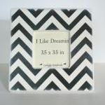 Black And Ivory Chevron Pi..